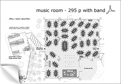 music rooms for 295 p. with a band