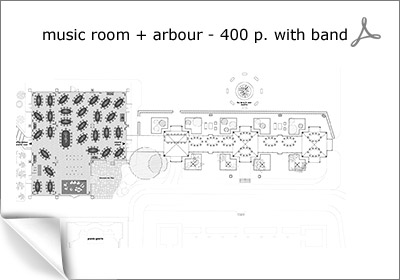 music rooms and arbour for 400 p.