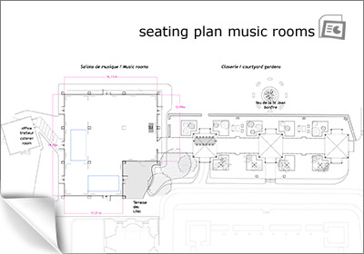 music rooms seating plan