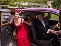 vintage car and weddings at Château de Vallery