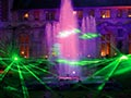 laser show in the grounds for a wedding