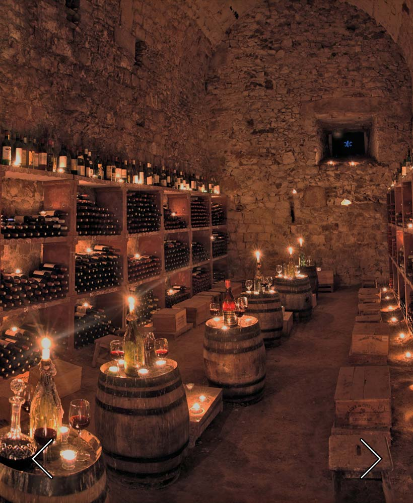 die mittelalterlichen Keller und seine Grands Crus