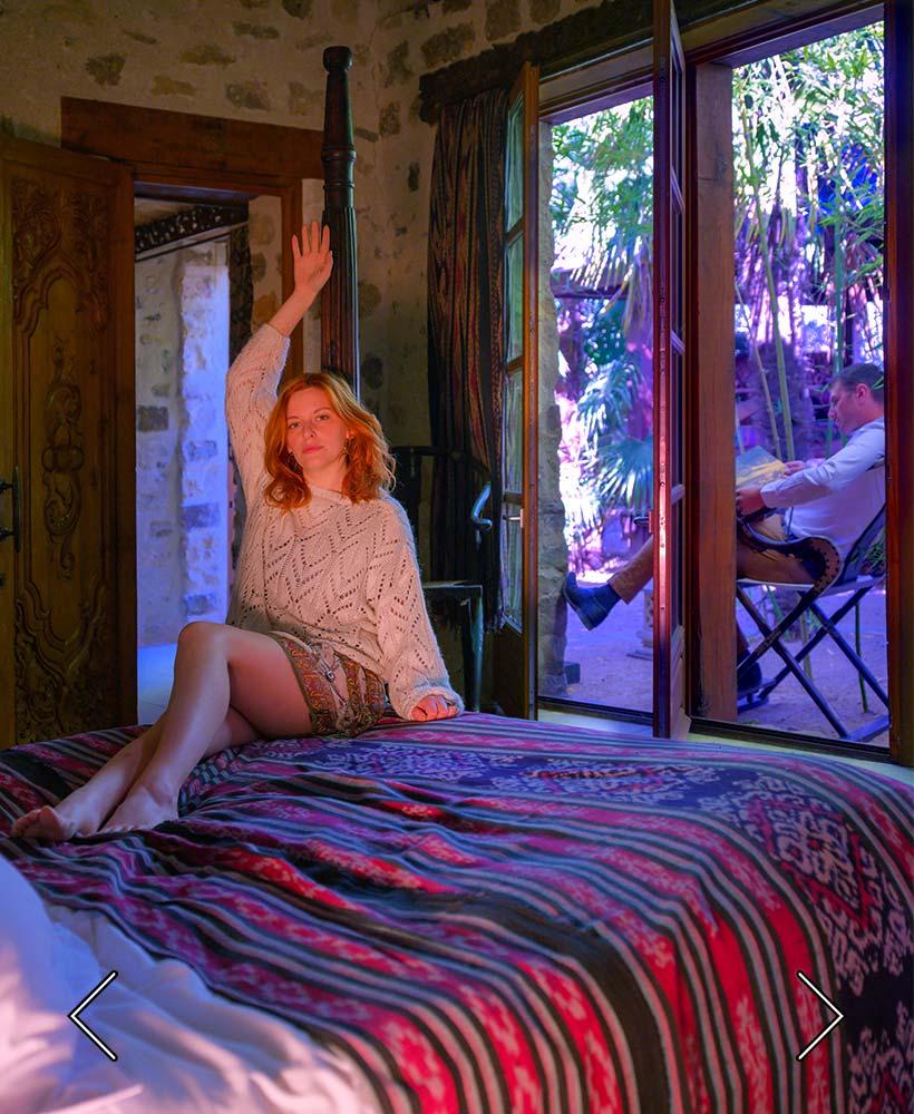 ett av de 4 sovrummen på Palmeraie