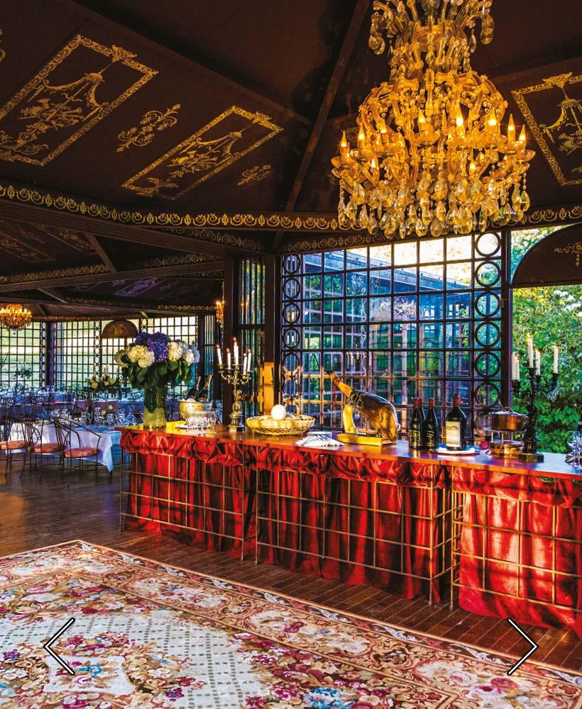 das Zimmer für eine Hochzeit vorbereitet