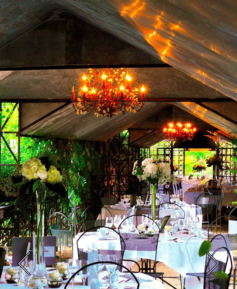 interior del closerie para una boda