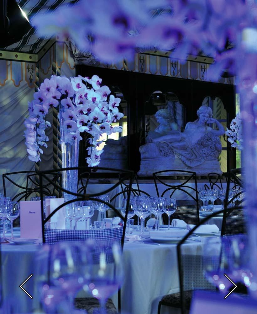 blomrummet för ett bröllop