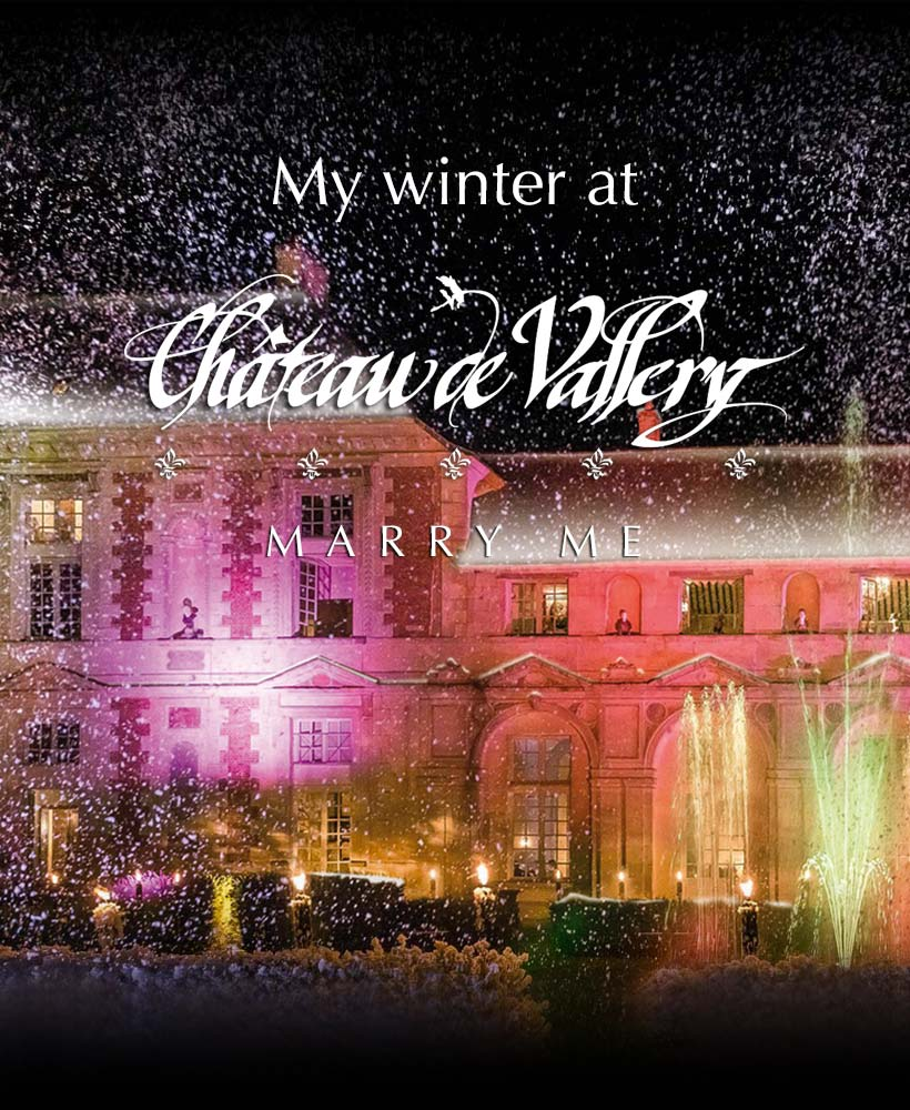 wedding at the chateau in winter