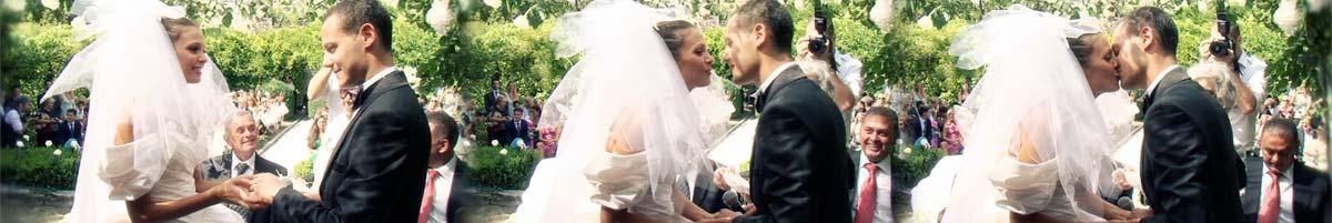 huwelijksceremonie in het kasteel