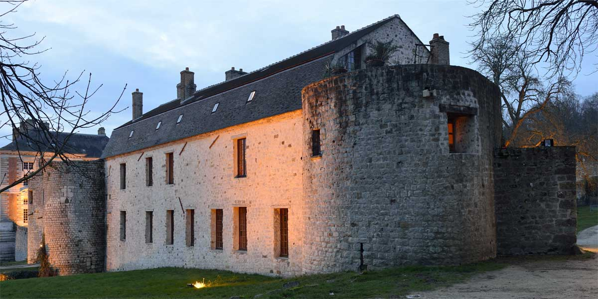the medieval chateau of Vallery, Paris area