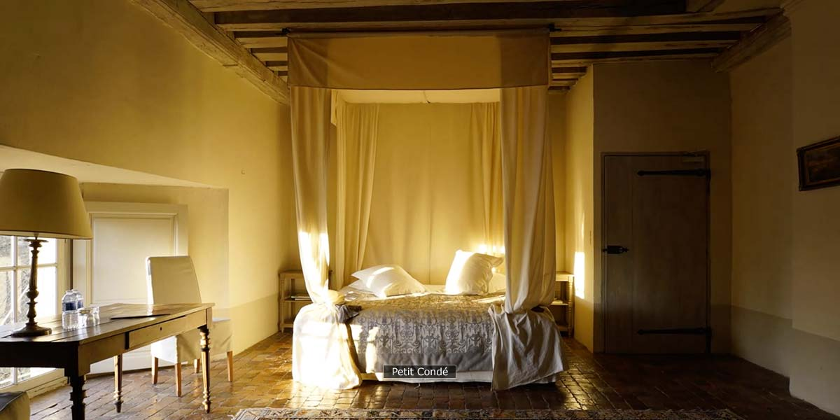 Petit Condé, most romantic bedroom of the chateau
