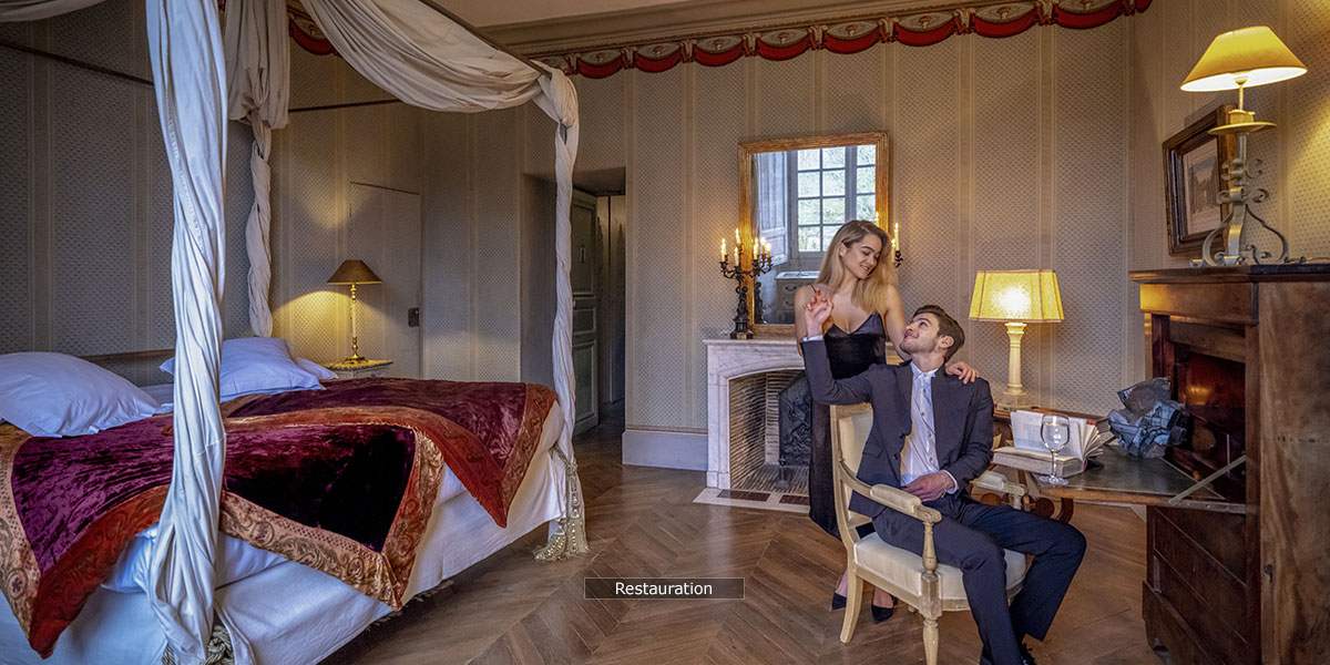 28 accommodation at the chateau: Restauration room