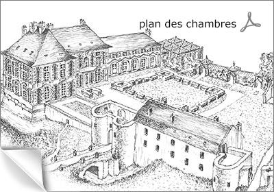 plan des chambres du château