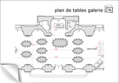 plan de tables de la grande galerie