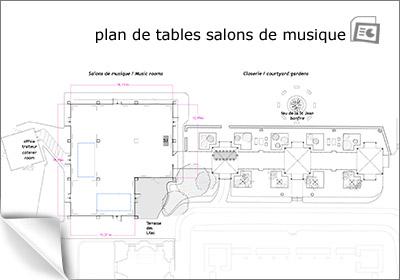plan de tables des salons de musique