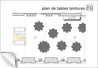 plan de tables de la salle des tentures