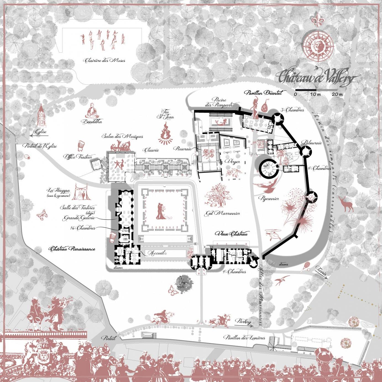 plan du château pour organiser son mariage
