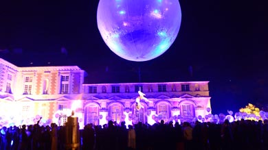 festivities in the grounds of the chateau