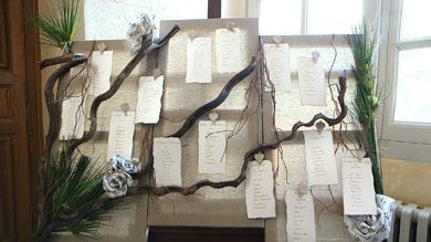 un plan de tables pour un mariage dans la salle des Tentures
