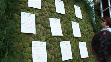 un plan de tables végétal dans la Grande Galerie