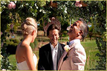 officiant for your wedding ceremony at the chateau